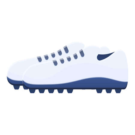 Spikes football boots icon. Cartoon of spikes football boots vector icon for web design isolated on white background Ilustracja
