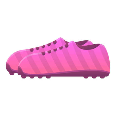 Rugby boots icon. Cartoon of rugby boots vector icon for web design isolated on white background
