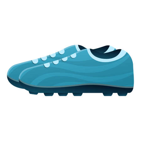 Competition football boots icon. Cartoon of competition football boots vector icon for web design isolated on white background Ilustracja