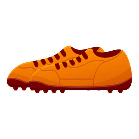 Man football boots icon. Cartoon of man football boots vector icon for web design isolated on white background