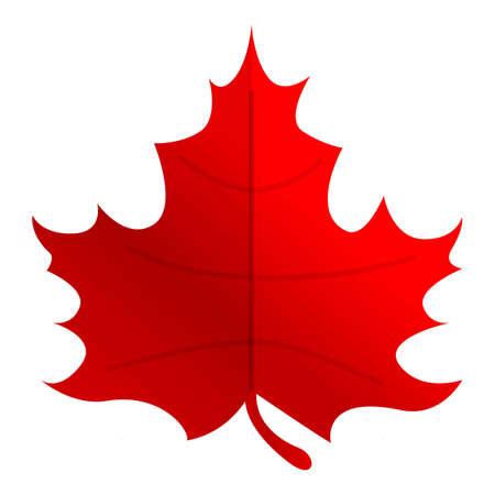Autumn party red maple leaf icon. Cartoon of autumn party red maple leaf vector icon for web design isolated on white background Vektorgrafik