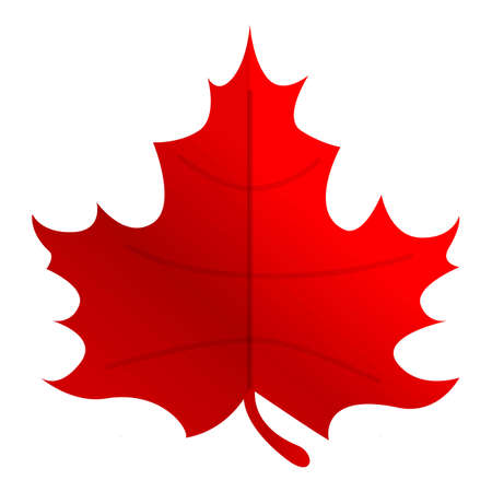 Autumn party red maple leaf icon. Cartoon of autumn party red maple leaf vector icon for web design isolated on white background Vektorové ilustrace
