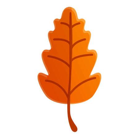 Autumn oak leaf icon. Cartoon of autumn oak leaf vector icon for web design isolated on white background