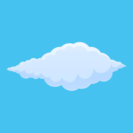 Sunrise cloud icon. Cartoon of sunrise cloud vector icon for web design isolated on white background