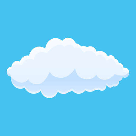 Climate cloud icon. Cartoon of climate cloud vector icon for web design isolated on white background 向量圖像