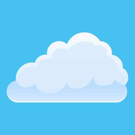 Shiny cloud icon. Cartoon of shiny cloud vector icon for web design isolated on white background