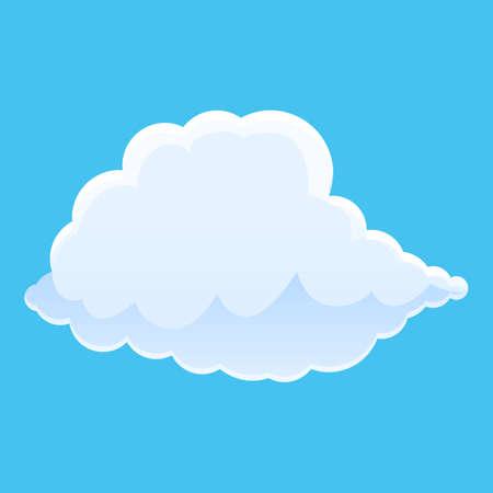 Sky autumn cloud icon. Cartoon of sky autumn cloud vector icon for web design isolated on white background Illusztráció