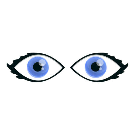 Female eyes icon. Cartoon of female eyes vector icon for web design isolated on white background