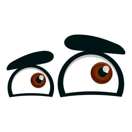 Interested eyes icon. Cartoon of interested eyes vector icon for web design isolated on white background
