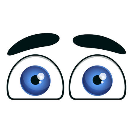Funny eyes icon. Cartoon of funny eyes vector icon for web design isolated on white background