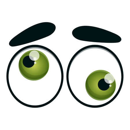 Crazy eyes icon. Cartoon of crazy eyes vector icon for web design isolated on white background