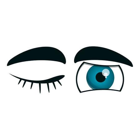 Winking eyes icon. Cartoon of winking eyes vector icon for web design isolated on white background