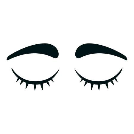 Eyelashes icon. Cartoon of eyelashes vector icon for web design isolated on white background