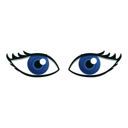 Lady eyes icon. Cartoon of lady eyes vector icon for web design isolated on white background