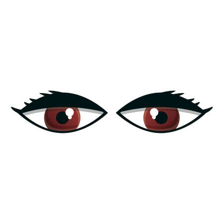 Makeup eyes icon. Cartoon of makeup eyes vector icon for web design isolated on white background