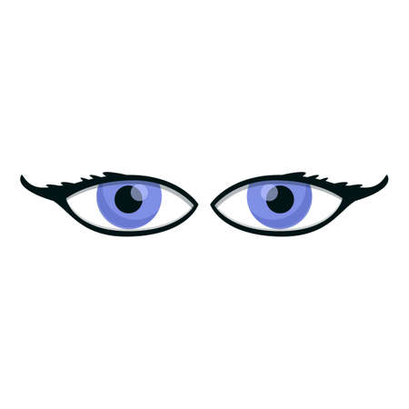 Gazing eyes icon. Cartoon of gazing eyes vector icon for web design isolated on white background Ilustração