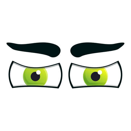 Eyes face gaze icon. Cartoon of eyes face gaze vector icon for web design isolated on white background