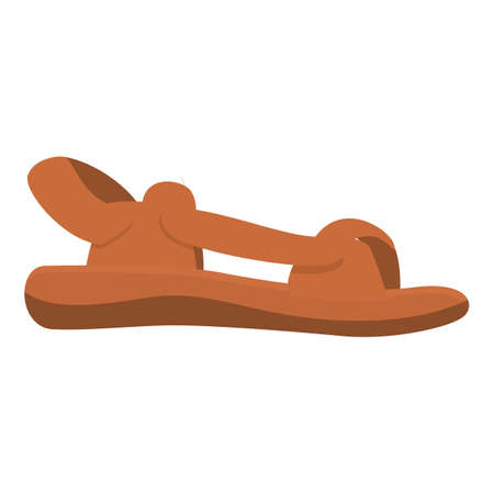 Beach sandals icon. Cartoon of beach sandals vector icon for web design isolated on white background