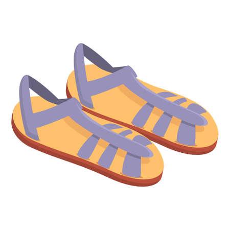 Elegant sandals icon. Cartoon of elegant sandals vector icon for web design isolated on white background