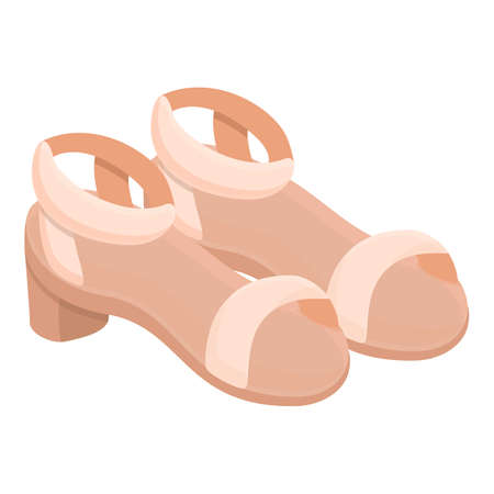 Opentoe sandals icon. Cartoon of opentoe sandals vector icon for web design isolated on white background
