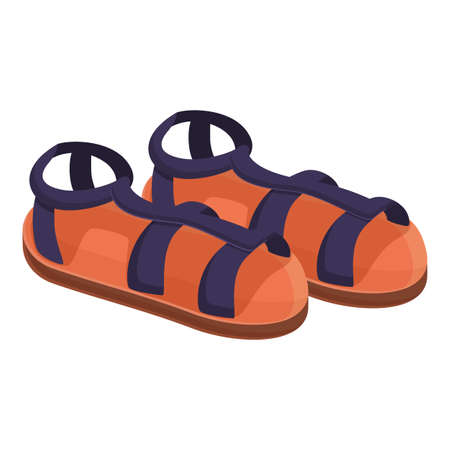 Rubber sandals icon. Cartoon of rubber sandals vector icon for web design isolated on white background