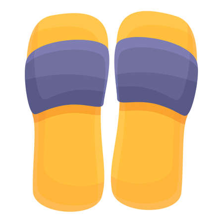 Rubber beach sandals icon. Cartoon of rubber beach sandals vector icon for web design isolated on white background Ilustracja