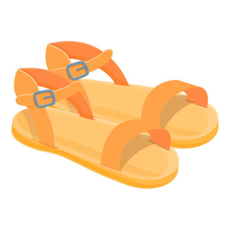 Trendy sandals icon. Cartoon of trendy sandals vector icon for web design isolated on white background