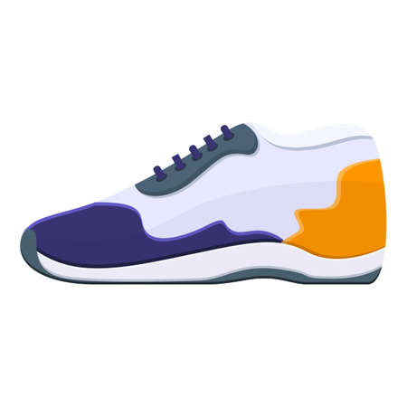 Sneaker shoe icon. Cartoon of sneaker shoe vector icon for web design isolated on white background
