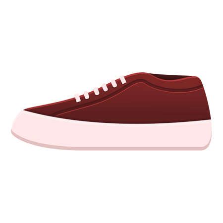 Rap sneakers icon. Cartoon of rap sneakers vector icon for web design isolated on white background