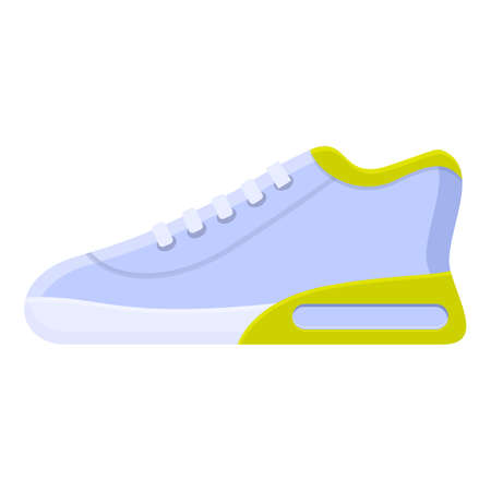Gym sneaker icon. Cartoon of gym sneaker vector icon for web design isolated on white background Ilustracja
