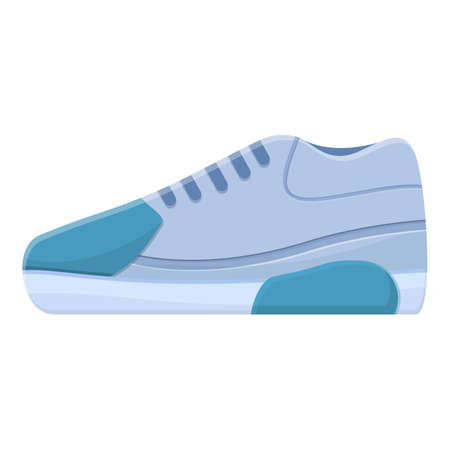 Nike sneakers icon. Cartoon of nike sneakers vector icon for web design isolated on white background