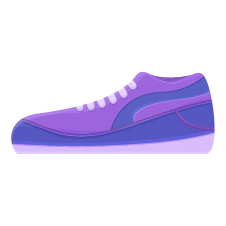 Fitness sneakers icon. Cartoon of fitness sneakers vector icon for web design isolated on white background