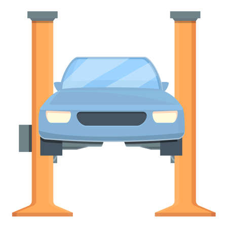 Electric car lift icon. Cartoon of electric car lift vector icon for web design isolated on white background