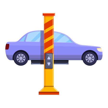 Car lift device icon. Cartoon of car lift device vector icon for web design isolated on white background