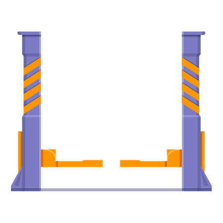 Two post car lift icon. Cartoon of two post car lift vector icon for web design isolated on white background 向量圖像