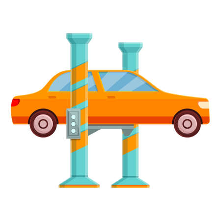 Car lift station icon. Cartoon of car lift station vector icon for web design isolated on white background 向量圖像