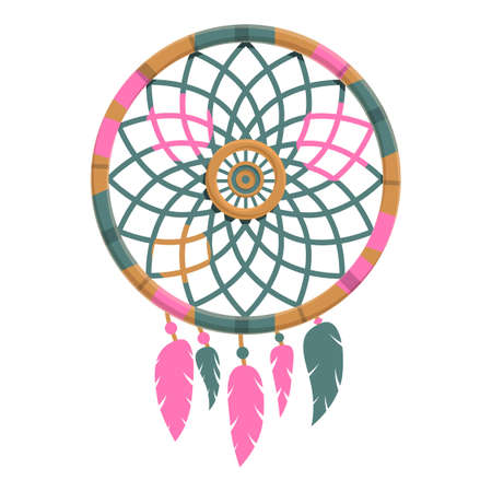 Shaman dream catcher icon. Cartoon of shaman dream catcher vector icon for web design isolated on white background