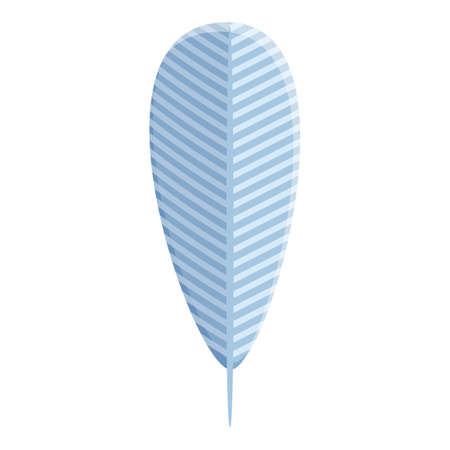 Swan feather icon. Cartoon of swan feather vector icon for web design isolated on white background