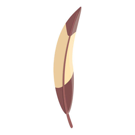 Delicate feather icon. Cartoon of delicate feather vector icon for web design isolated on white background 向量圖像