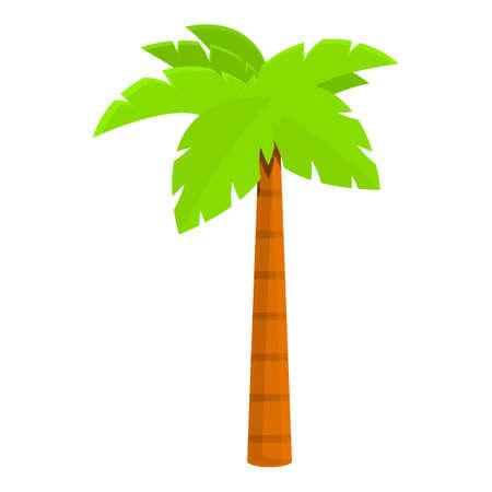 Islanian palm icon, cartoon style