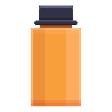 Athlete bottle icon, cartoon style