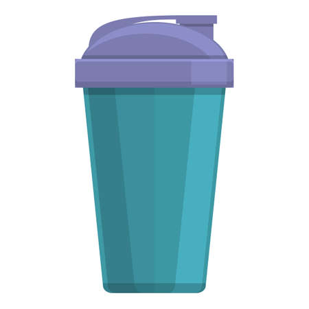 Hot thermo cup icon, cartoon style