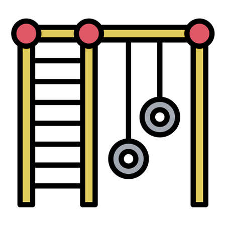 Gym kid playground icon, outline style