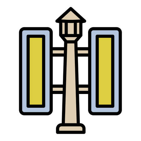 Outdoor advertising street pillar icon, outline style