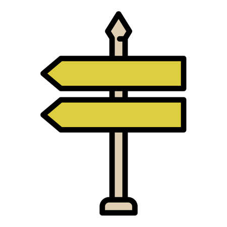 Sign board outdoor advertising icon, outline style