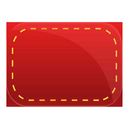 Red cloth label icon, cartoon style