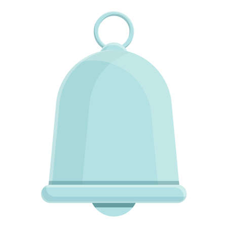 Cozy home silver bell icon, cartoon style 向量圖像