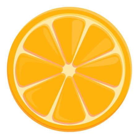 Tea orange slice icon, cartoon style