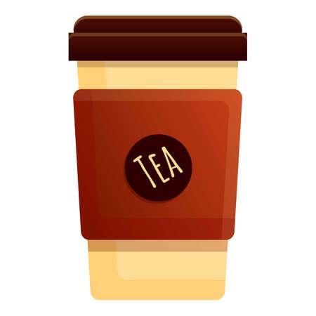 To go tea cup icon, cartoon style