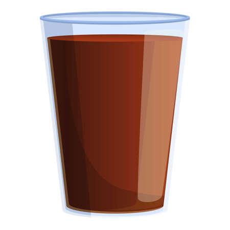 Herb tea plastic cup icon, cartoon style